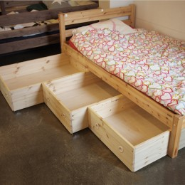 침대하부 슬라이딩 수납함