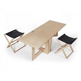프리미엄 원목 척테이블 의자세트