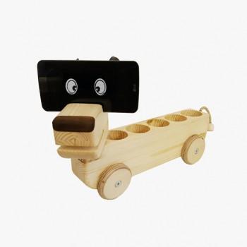원목 강아지 장난감 연필꽂이 핸드폰거치대