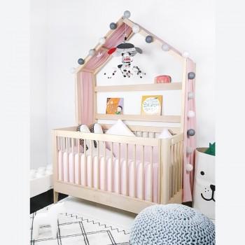 에쉬 메이플 통원목 아이 베이비 북하우스 침대